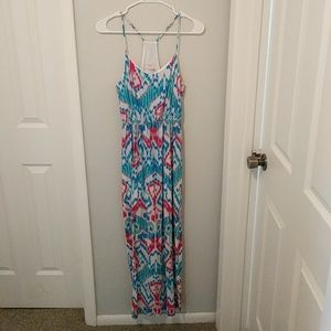 Everly patterned maxi dress